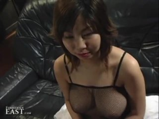 Great Tited Asian Babe Using Her Boobs To Please