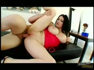 Chunky whore Cassandra Calogera gets her pussy stabbed by a monster rod