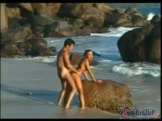 kwaliteit doggystyle klem, cum klem, strand porno