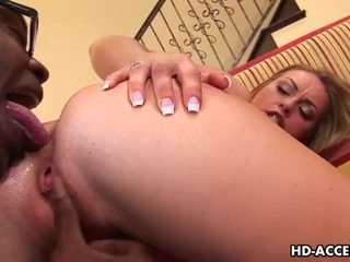 Sexy blonde aline pussy filled with black cock