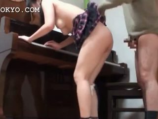 Asian Schoolgirl Pussy Banged Hard Over The Piano