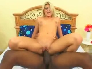 Blonde Floozy Stacy Thorn Fucks Love Tunnel On Huge Black Cock Before Getting Facial