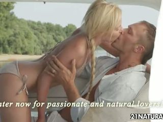 21 Naturals: Hot blonde Angie Koks gets banged on a yacht