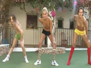 trio Naked Lezboes making aerobic
