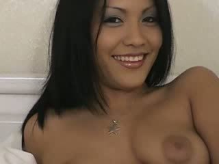 Sexy brunette babe turned on and blows a load