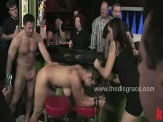 porno scène, pervers klem, u leer