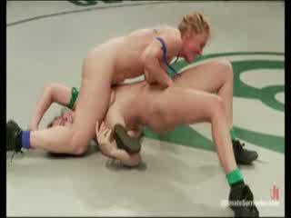 Hot naked chicks wrestling