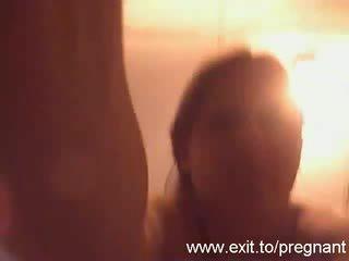 My Pregnant GF Melinda fingering on home webcam Video