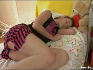 mooi bedroom sex video-, nominale slapen scène, plezier sleeping porn