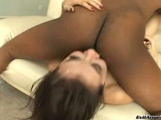 SAsha Grey Sucking The Dick Loaded With Cum