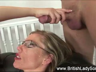 i plotë group sex, britanik, të gjithë cumshot në linjë