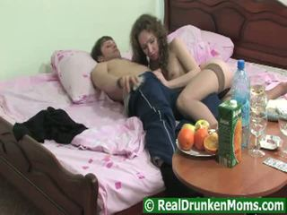 Hirsute Drunken Grandma Getting Pumped Raw