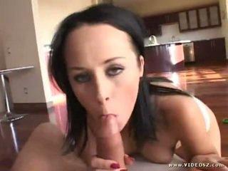 hq brunette, hottest big boobs hottest, quality blowjob