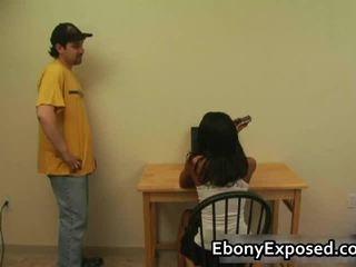 Ebony Amateur Undresses Her Spankable