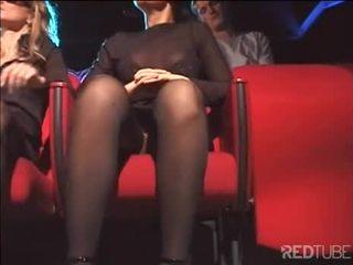 orale seks seks, een deepthroat kanaal, dubbele penetratie klem