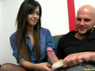 brunette video-, schattig, nieuw plezier porno