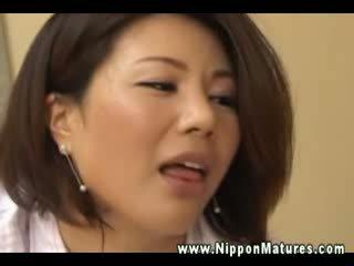 일본의, 쿠거, 이국적인, 엄마