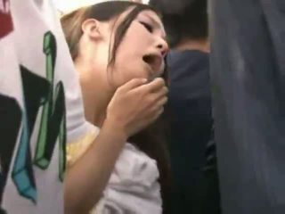 Innocent Teen groped to orgasm on a train