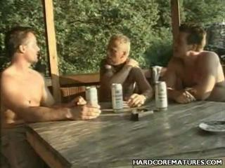 Outdoor Older Gangbang