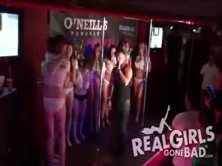 BUSTY HOT ENGLISH GIRLS STRIPTEASE WET T-SHIRT CONTEST