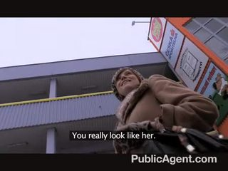 Cute preggo brunette lets me fuck for cash