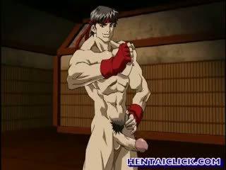 Cute Anime Gay Rides A Massive Cock