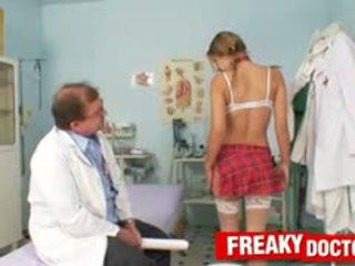 School Girl Rachel Evans Sucking On Old Gyno Doctor Dick