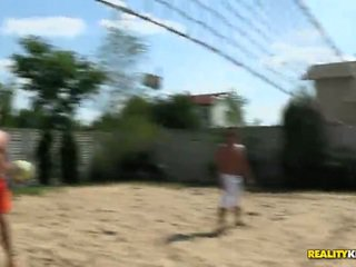 Henessy And Sunny Diamond Play Sex Game Fucking Game Volleyball And Swim Topless
