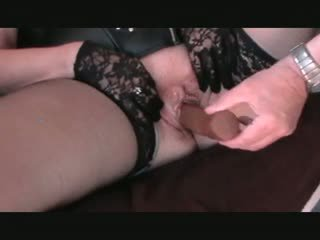 Pandora's chocolate cock and creampie big clit and lips