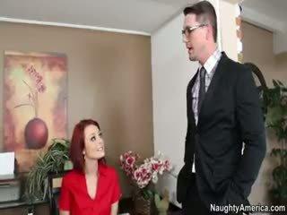 hq realiteit klem, controleren pijpbeurt, mooi redhead scène