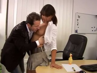 Cute Defrancesca Gallardo at the office