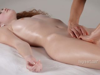 Pussy receives a massage by a man with a vibrator