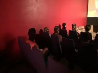 Carole Gangbanged In A Cinema