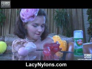 meest panty tube, plezier lingerie video-, heet nylonkousen