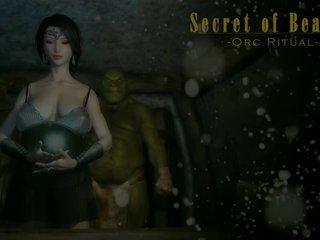 3d animated cô gái quái orcs