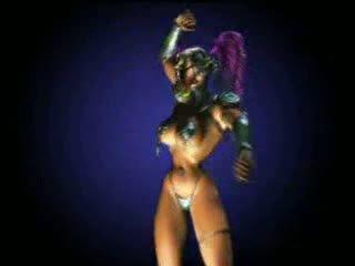 Animated dansing dronning