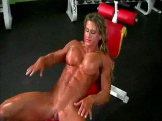 Nagie bodybuilder pani z duży łechtaczka
