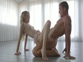 Hot sensual couple enjoy each other company