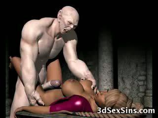 Frightening zombi fucks 3d babe!