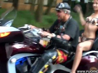 Horny Biker Girl Gets Off