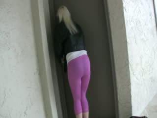 การปัสสาวะ สีชมพู ผ้าแสปนเด็กซ์ กางเกงรัดรูป