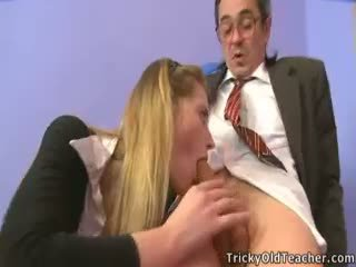 Cute Gizelle Saw Her Teacher Jacking Off.