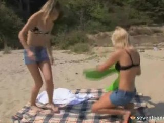 Lesbo Gals Onto The Sands