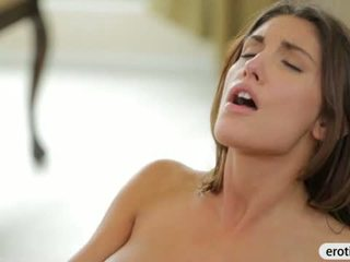 Lovely brunette babe with big tits gets her sweet snatch fucked Video