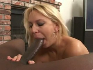 Blonde milf gets a nice big black cock