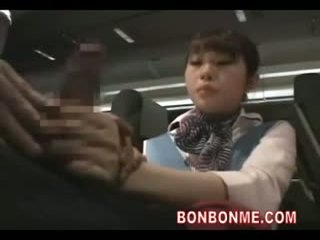 vol uniform scène, aziatisch, zien air hostesses vid