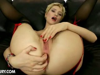 Blonde booty babe janet mercury anal by hard cock