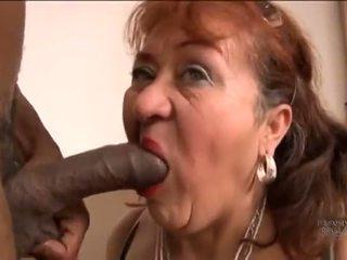 Picked w górę stary hiszpańskie babunia na screwing pleasures