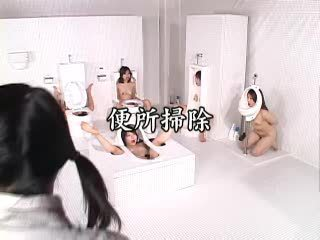 Kinky Asian babes dress themselves as human toilets Video