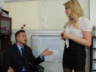 Blonde Secretary Mia Malkova Has Ass Hole Eaten By Her Chief